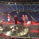 Sound check, drum set view
