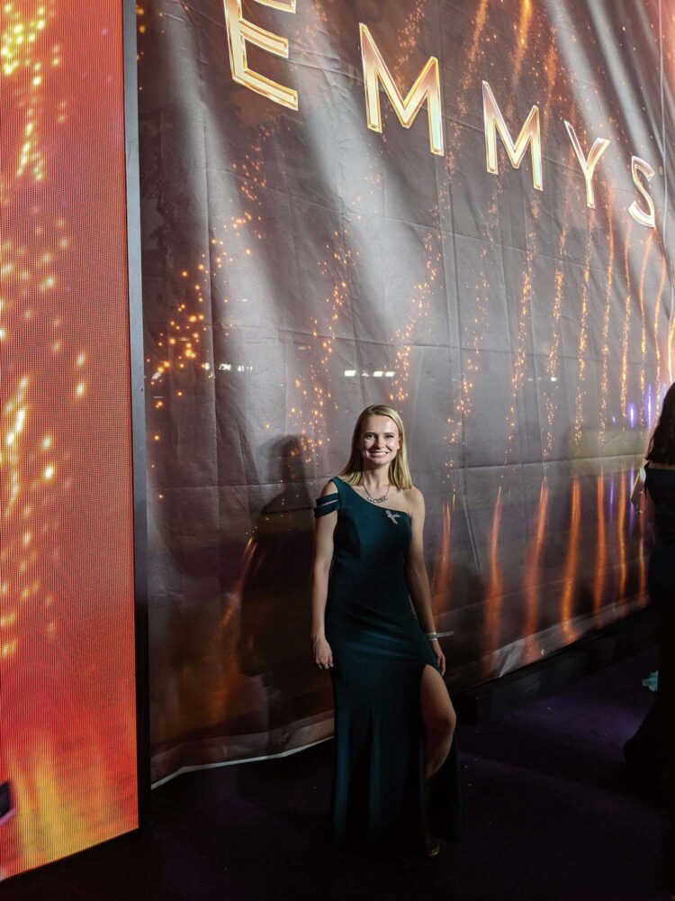 Senior Kate Hauersperger at the 2019 Emmy Awards.